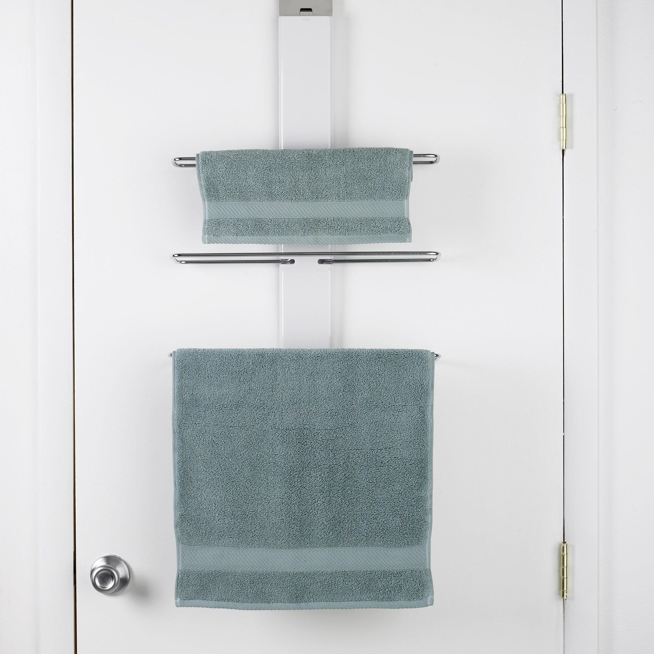 Oxo Bathroom Accessories Oxo Good Grips Over The Door Towel Rack Reviews Wayfair