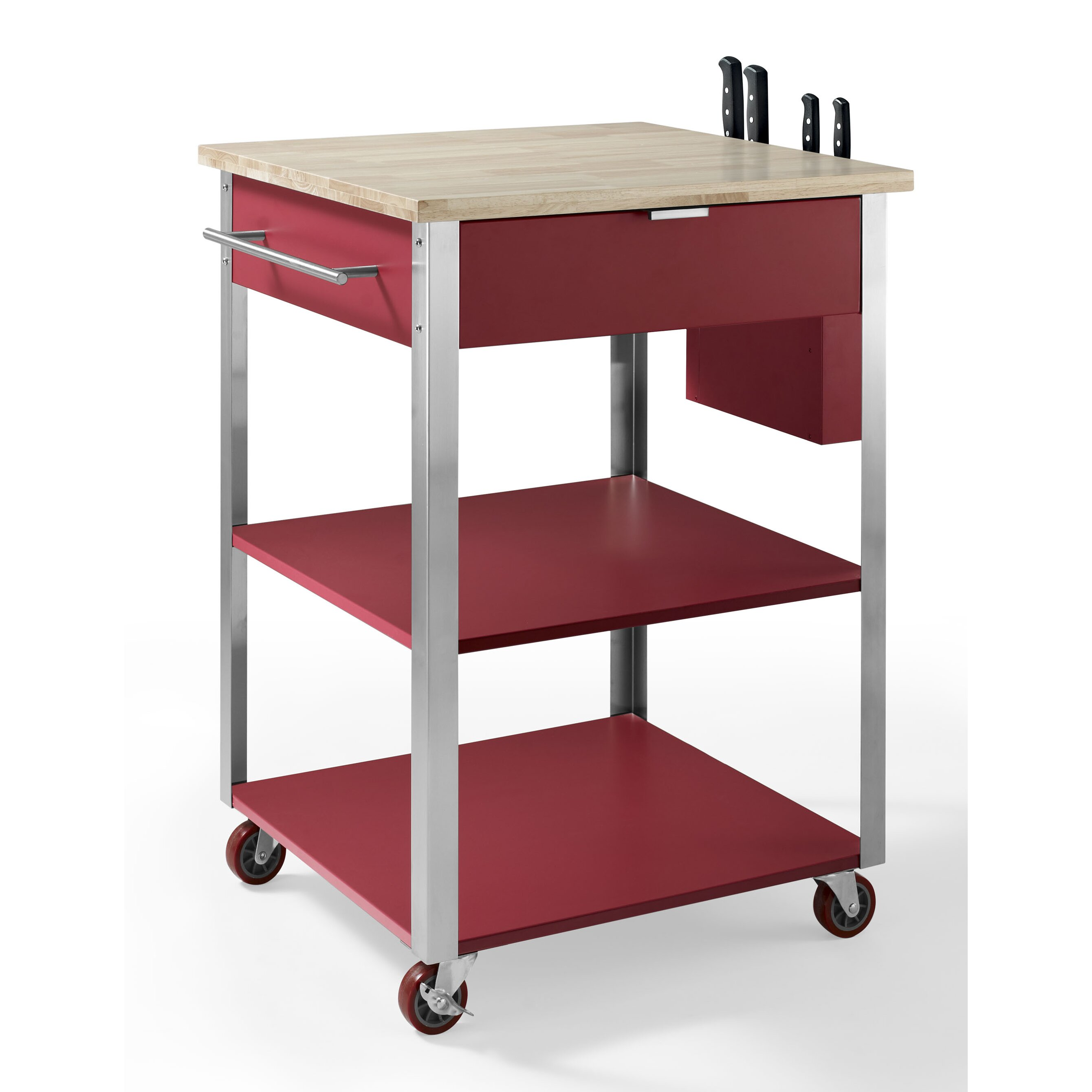 Crosley Furniture Kitchen Cart Crosley Kitchen Cart With Butcher Block Top Reviews Wayfair