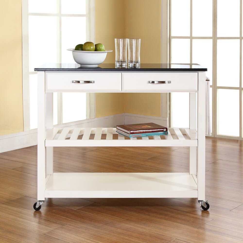 Granite Top Kitchen Crosley Kitchen Island With Granite Top Reviews Wayfair