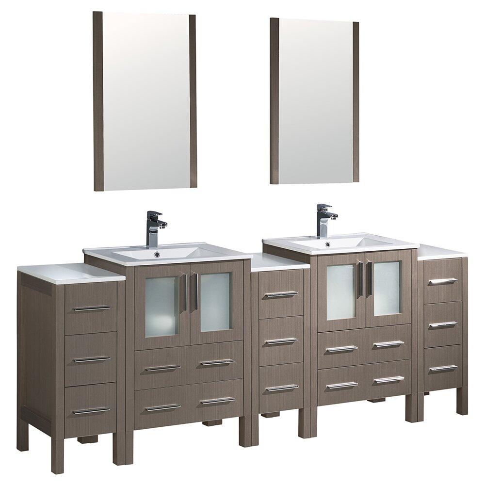 Fresca Torino 84 Double Modern Bathroom Vanity Set With Mirror Reviews Wayfair