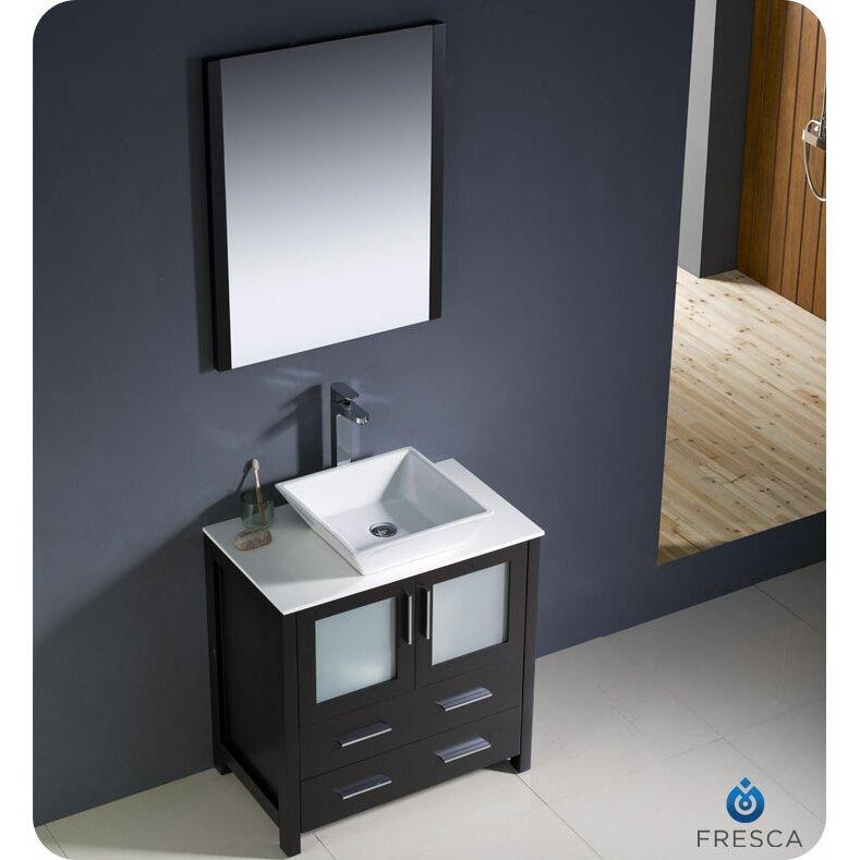 Fresca Torino 30 amp quot  Single Modern Bathroom Vanity Set with Mirror. Fresca Torino 30 quot  Single Modern Bathroom Vanity Set with Mirror