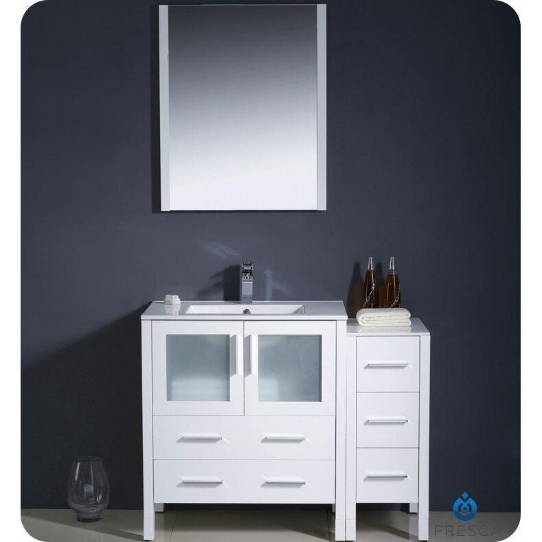 Fresca Torino 42 amp quot  Single Modern Bathroom Vanity Set with Mirror. Fresca Torino 42 quot  Single Modern Bathroom Vanity Set with Mirror