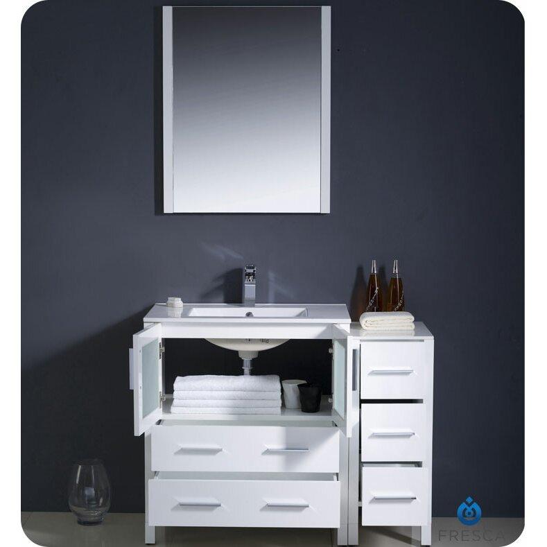 Fresca Torino 42 Single Modern Bathroom Vanity Set with Mirror – 42 Bathroom Vanity Cabinets