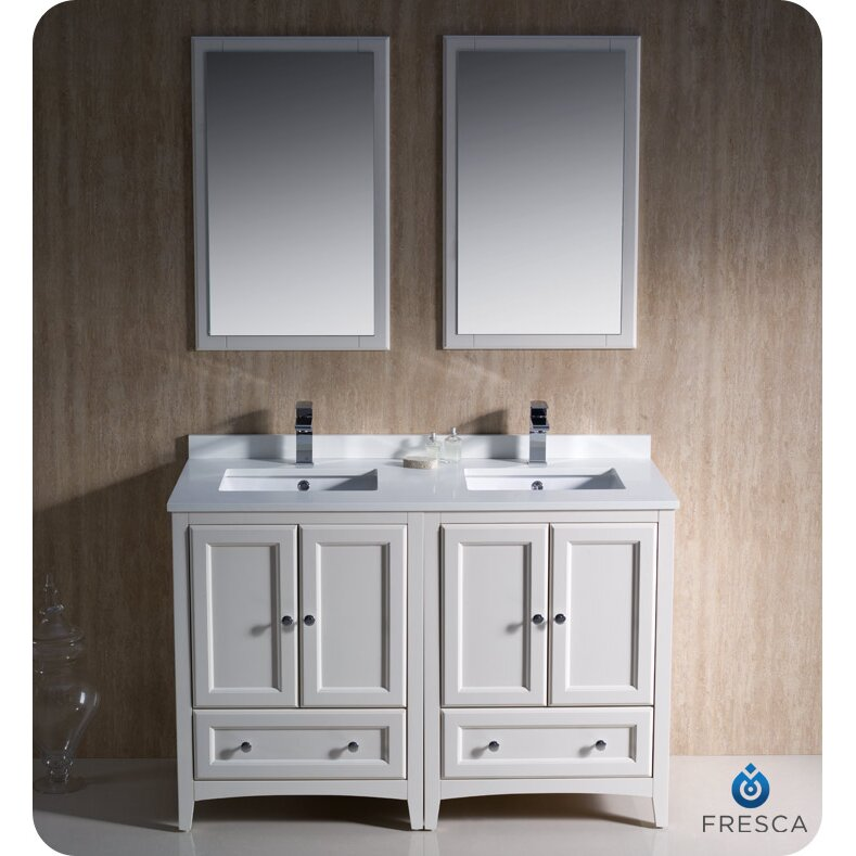 "fresca oxford "" double traditional bathroom vanity set with, Bathroom decor"