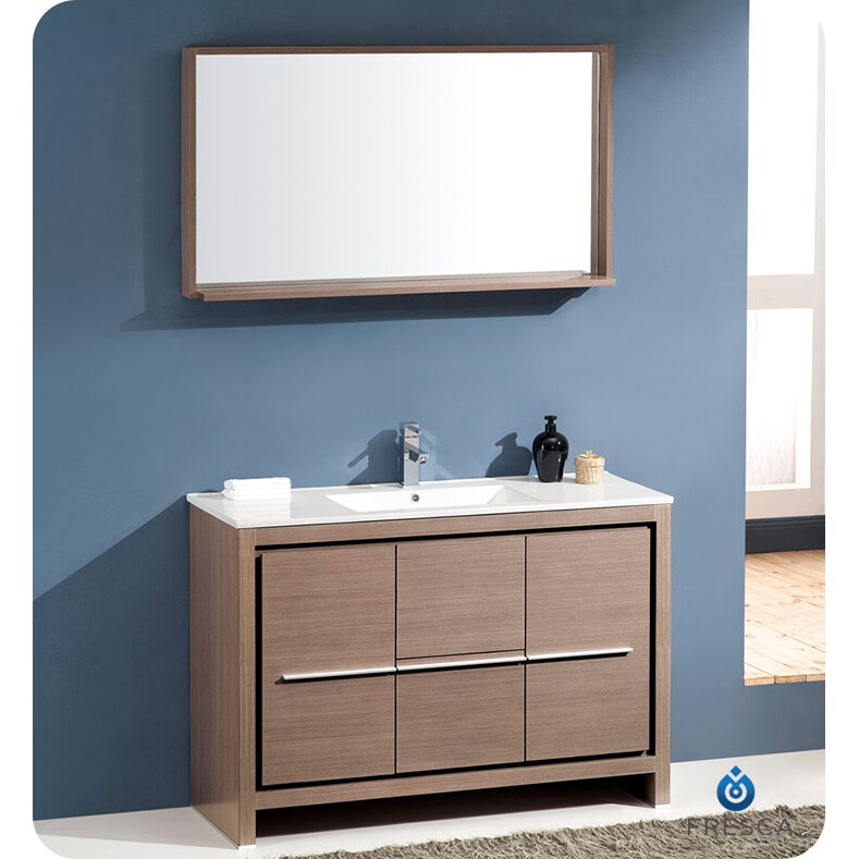 48 Single Modern Bathroom Vanity Set With Mirror Reviews Wa
