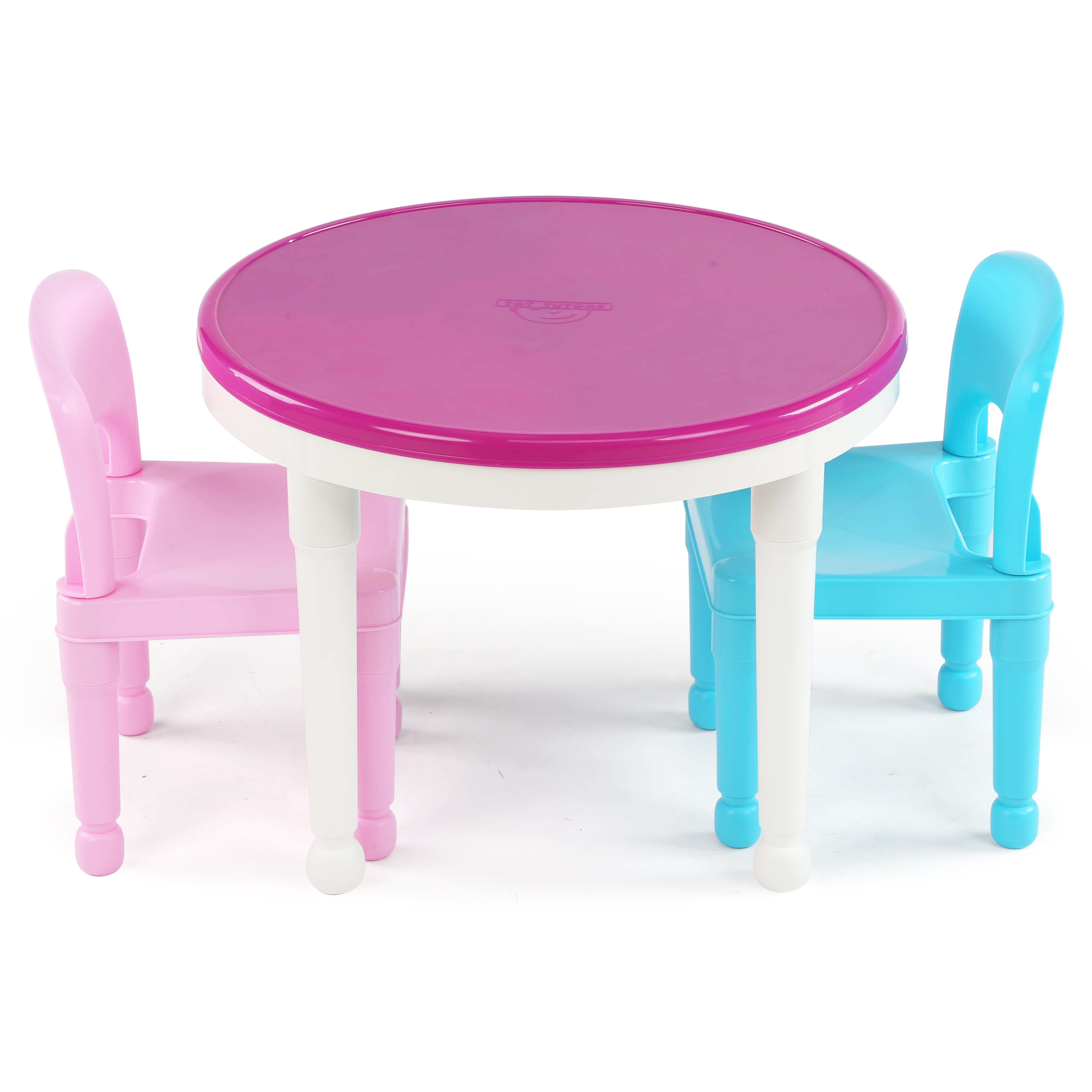 Plastic Table Chair Set Tot Tutors Kids 3 Piece Round Table And Chair Set Reviews Wayfair