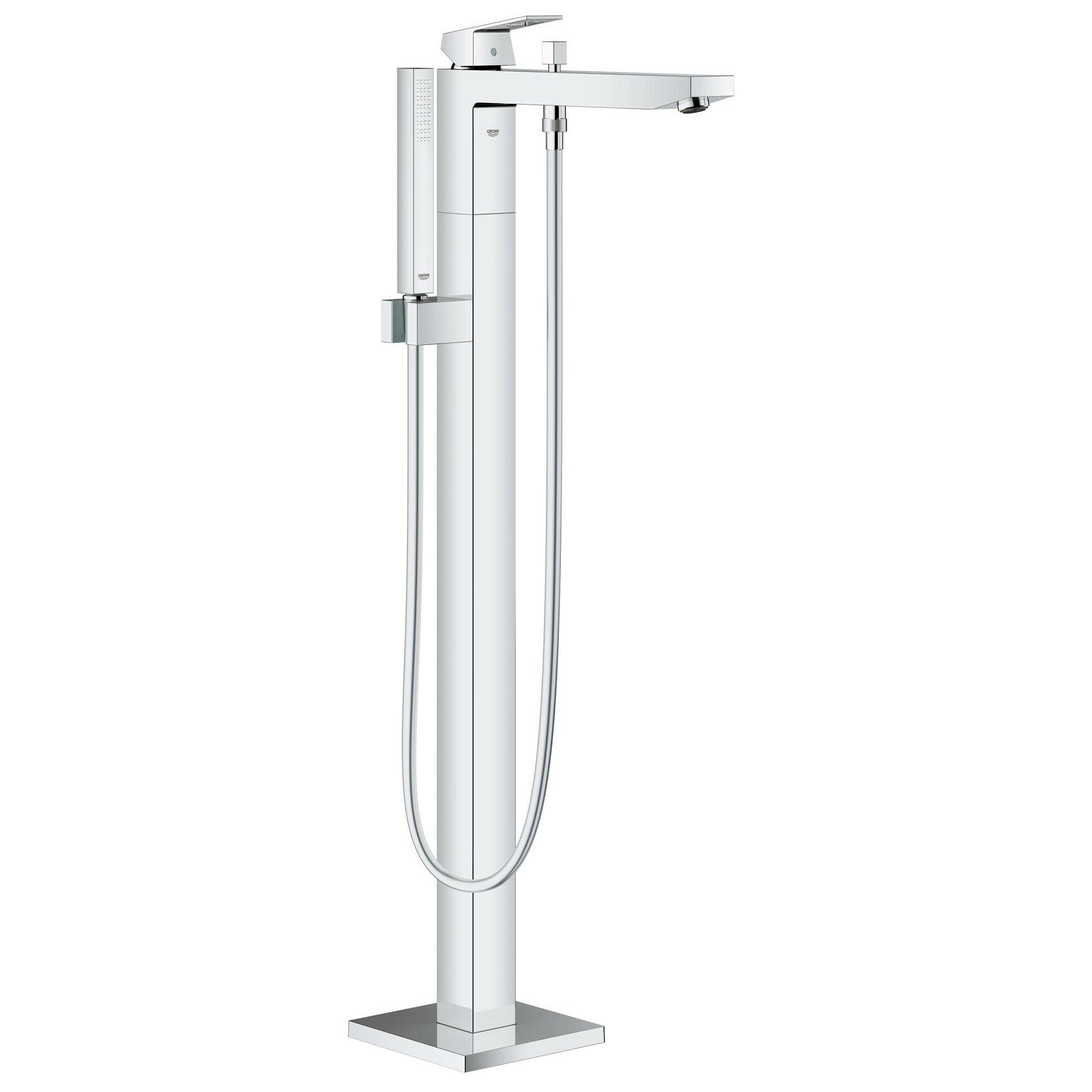 Grohe Eurocube Floor Mounted Tub Filler Trim with Hand Shower ... - Grohe Eurocube Floor Mounted Tub Filler Trim with Hand Shower