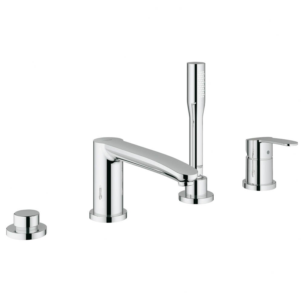 Grohe Eurostyle Two Handle Deck Mounted Roman Tub Faucet with Hand ... - Grohe Eurostyle Two Handle Deck Mounted Roman Tub Faucet with Hand Shower
