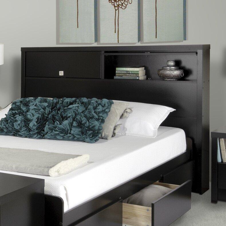 Cal King Bookcase Headboard: Prepac Designer Series 9 Bookcase Headboard & Reviews