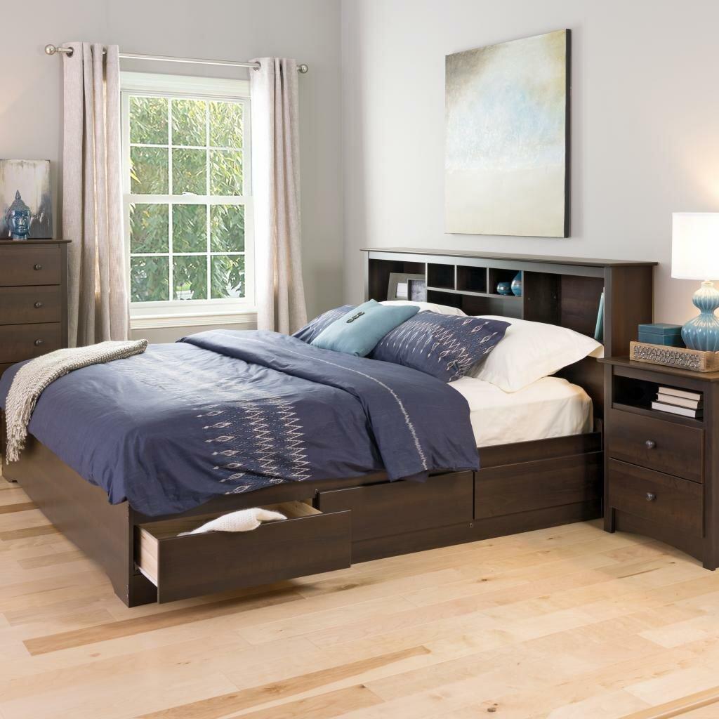 Prepac King Mate S Storage Platform Bed Amp Reviews Wayfair