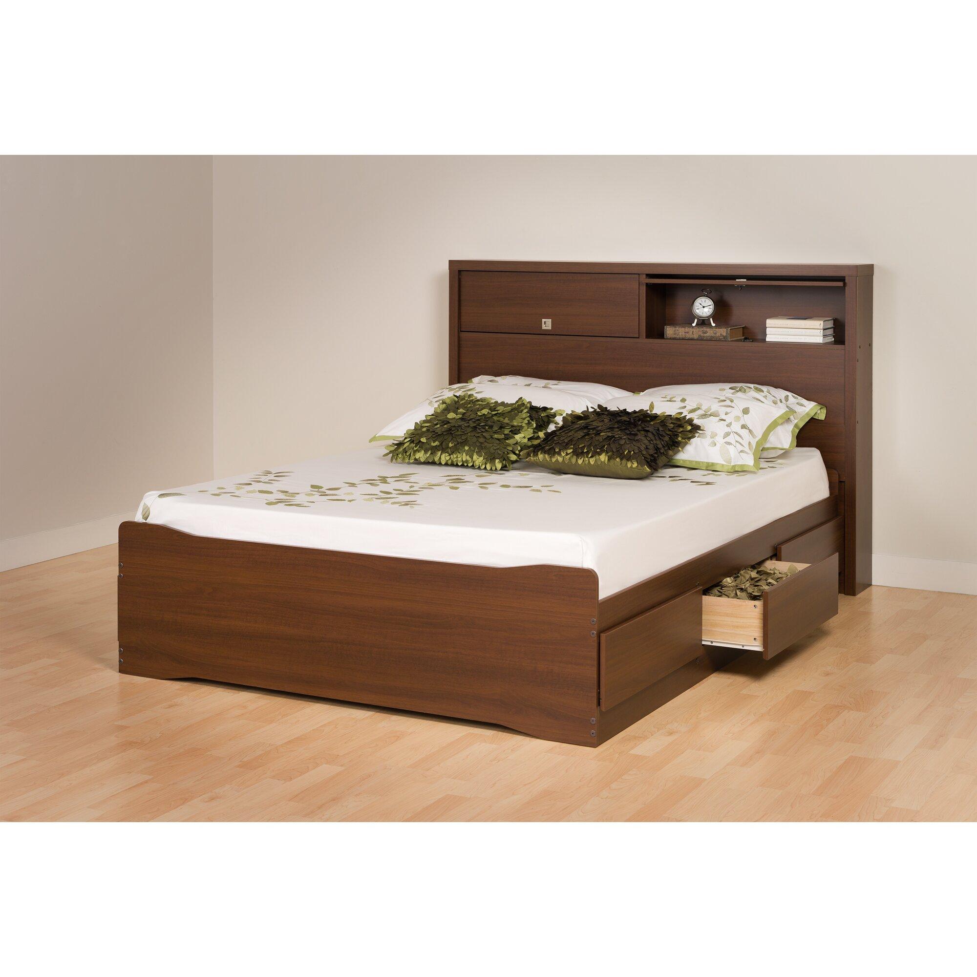 Prepac Bedroom Furniture Prepac Coal Harbor Storage Platform Bed Reviews Wayfair
