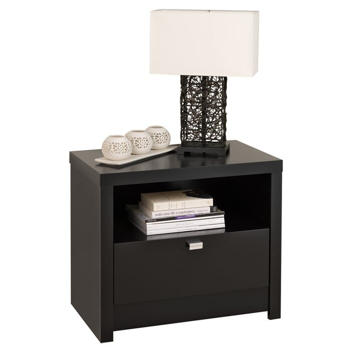 Bayside White 1 Drawer Nightstand Living Es