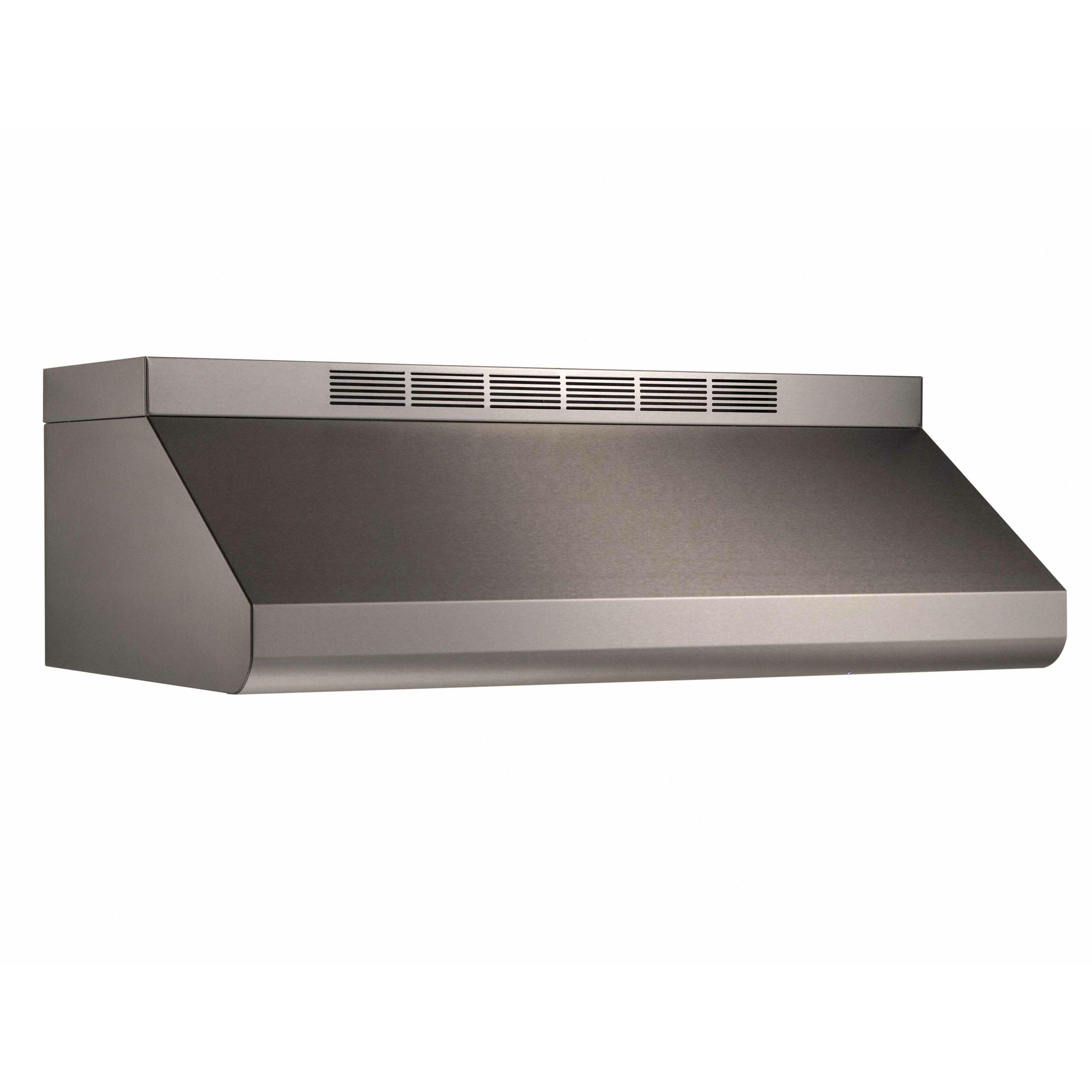 30 Under Cabinet Range Hood Broan 30 600 Cfm Convertible Under Cabinet Range Hood Reviews