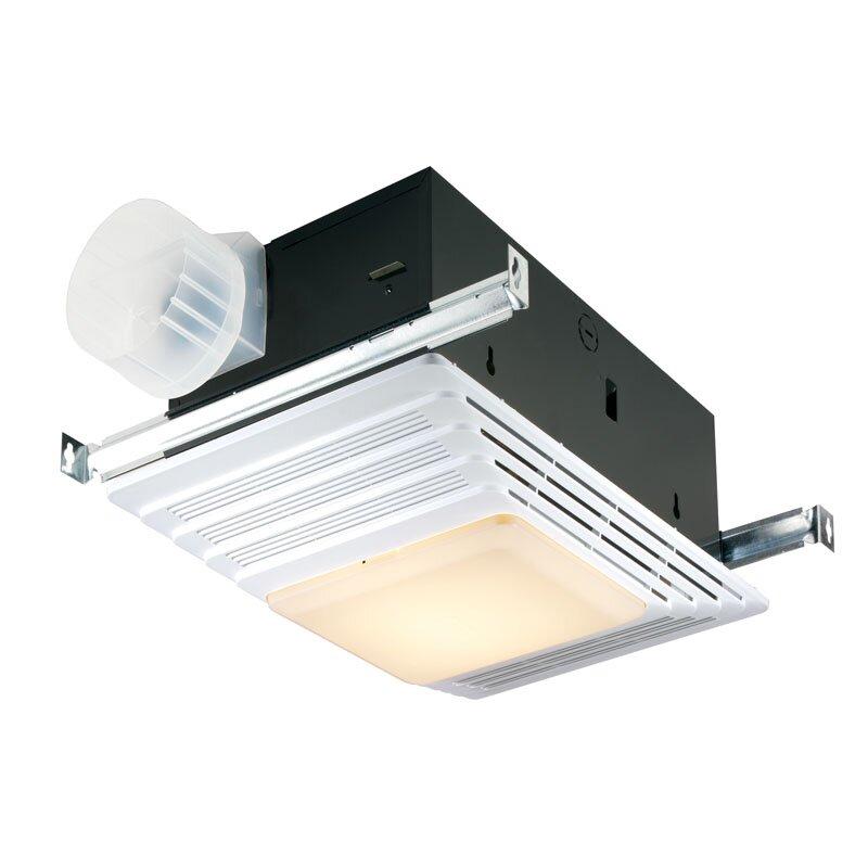 broan 50 cfm bathroom fan and heater with light & reviews | wayfair