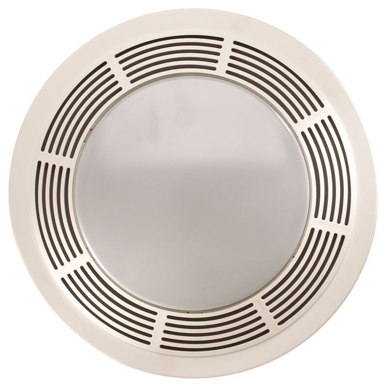 Broan Round 100 CFM Exhaust Bathroom Fan with Light. Broan Round 100 CFM Exhaust Bathroom Fan with Light   Reviews