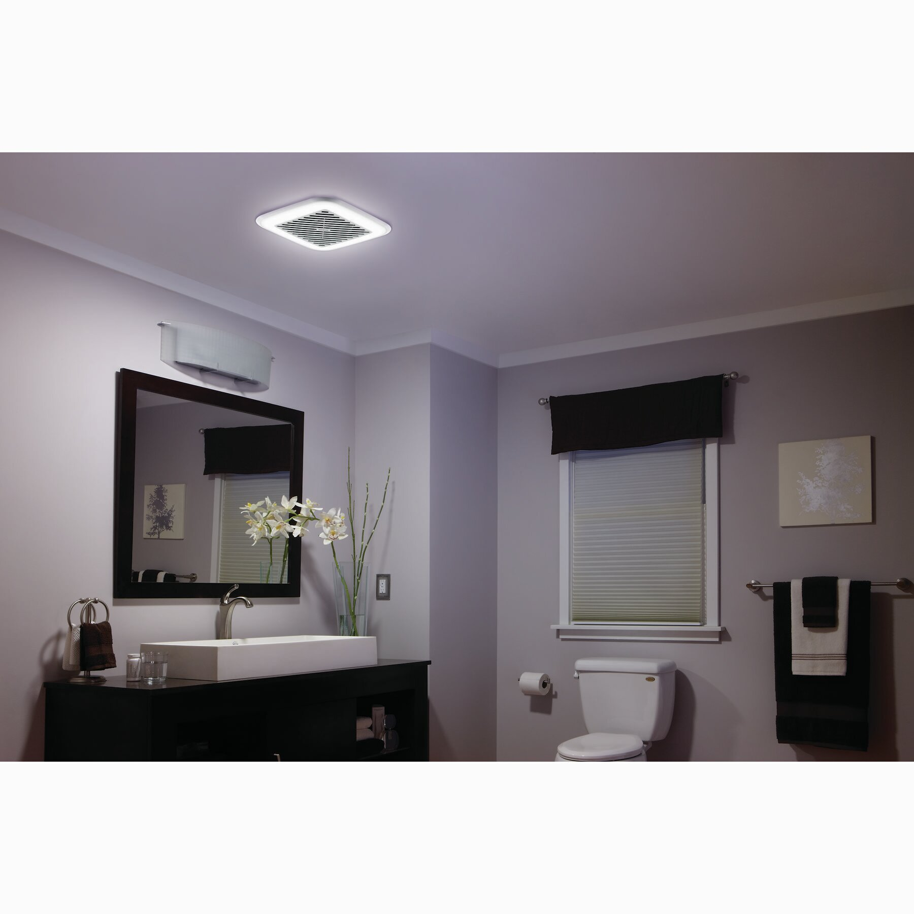 Broan 100 CFM Energy Star Bathroom Fan with Light  Broan 100 CFM Energy  Star Bathroom. Broan Ductless Bathroom Fan With Light