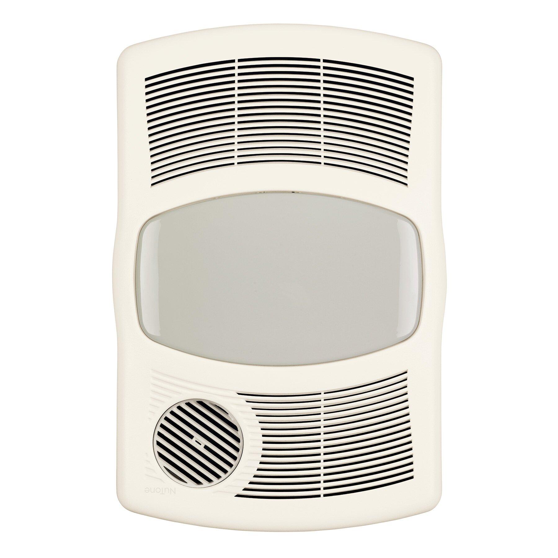 Bathroom Exhaust Heater Broan 100 Cfm Exhaust Bathroom Fan With Heater Reviews Wayfair
