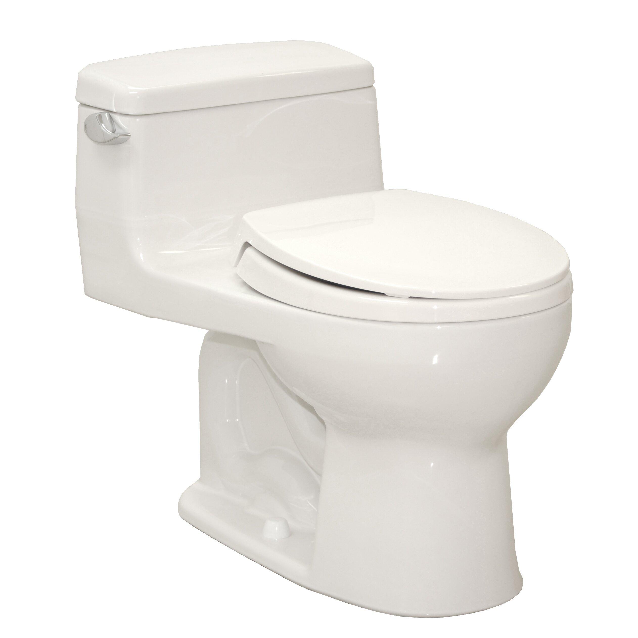 Toto Supreme Eco  GPF Round OnePiece Toilet  Reviews Wayfair - Toto japanese toilet seat