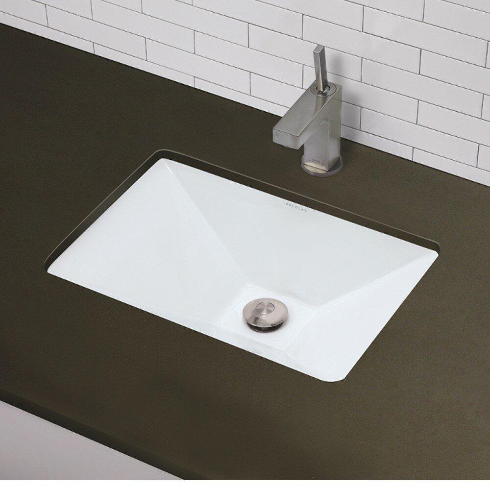 ... Redefined Pyramidal Undermount Bathroom Sink & Reviews Wayfair