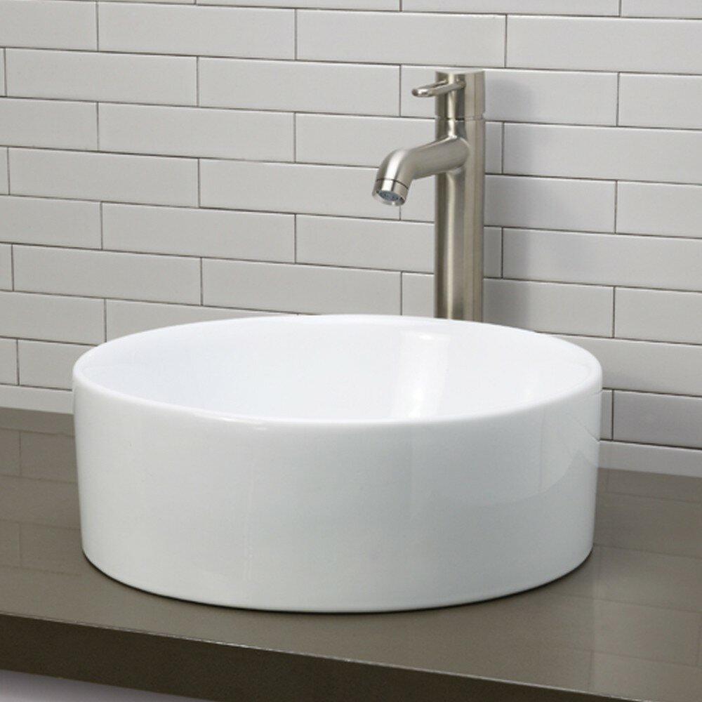 ... Redefined Round Vessel Bathroom Sink & Reviews Wayfair Supply