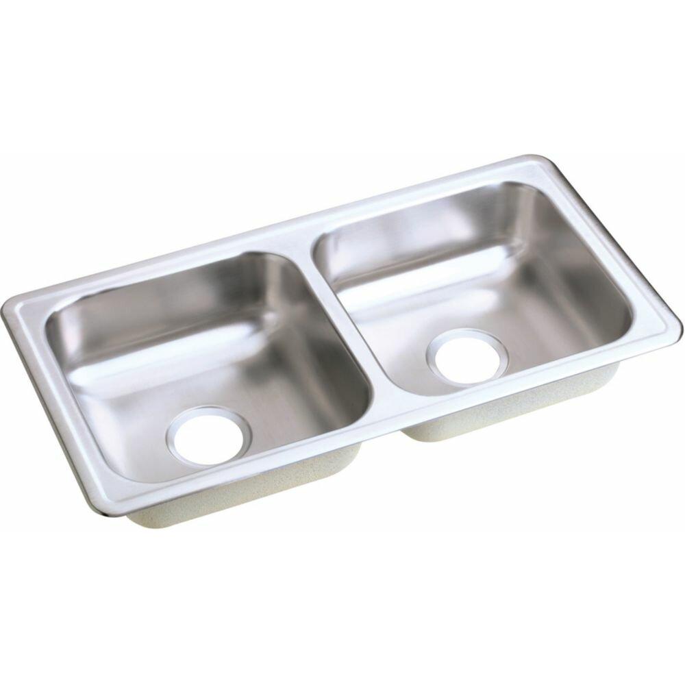 ordinary Dayton Kitchen Sink #8: Elkay Dayton 33u0026quot; x 17u0026quot; Top Mount Double Kitchen Sink