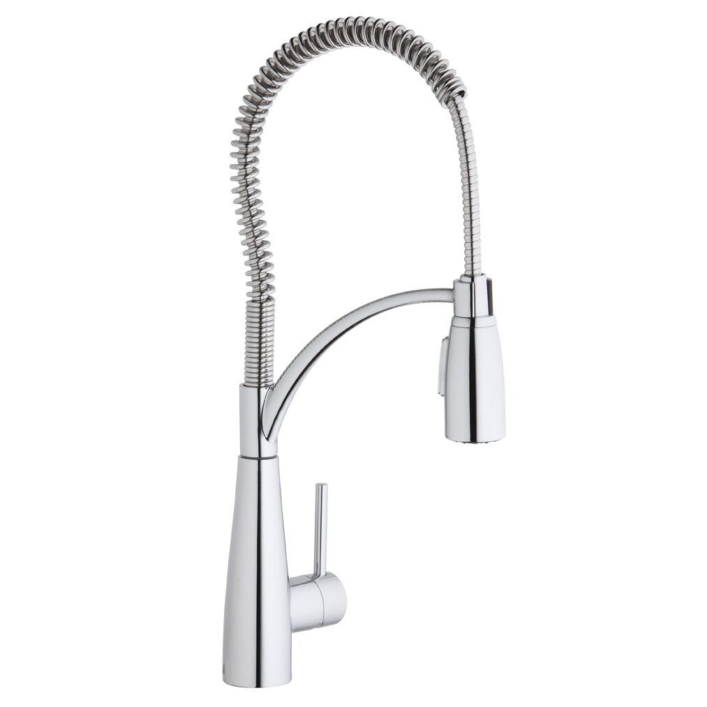 ... Single Handle Deck Mount Kitchen Faucet with Pre Rinse Spray by Elkay