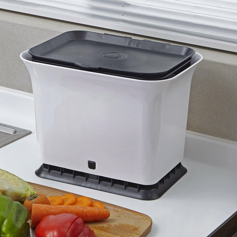 Full Circle 1 5 Cu Ft Kitchen Countertop Composter Reviews Wayfair
