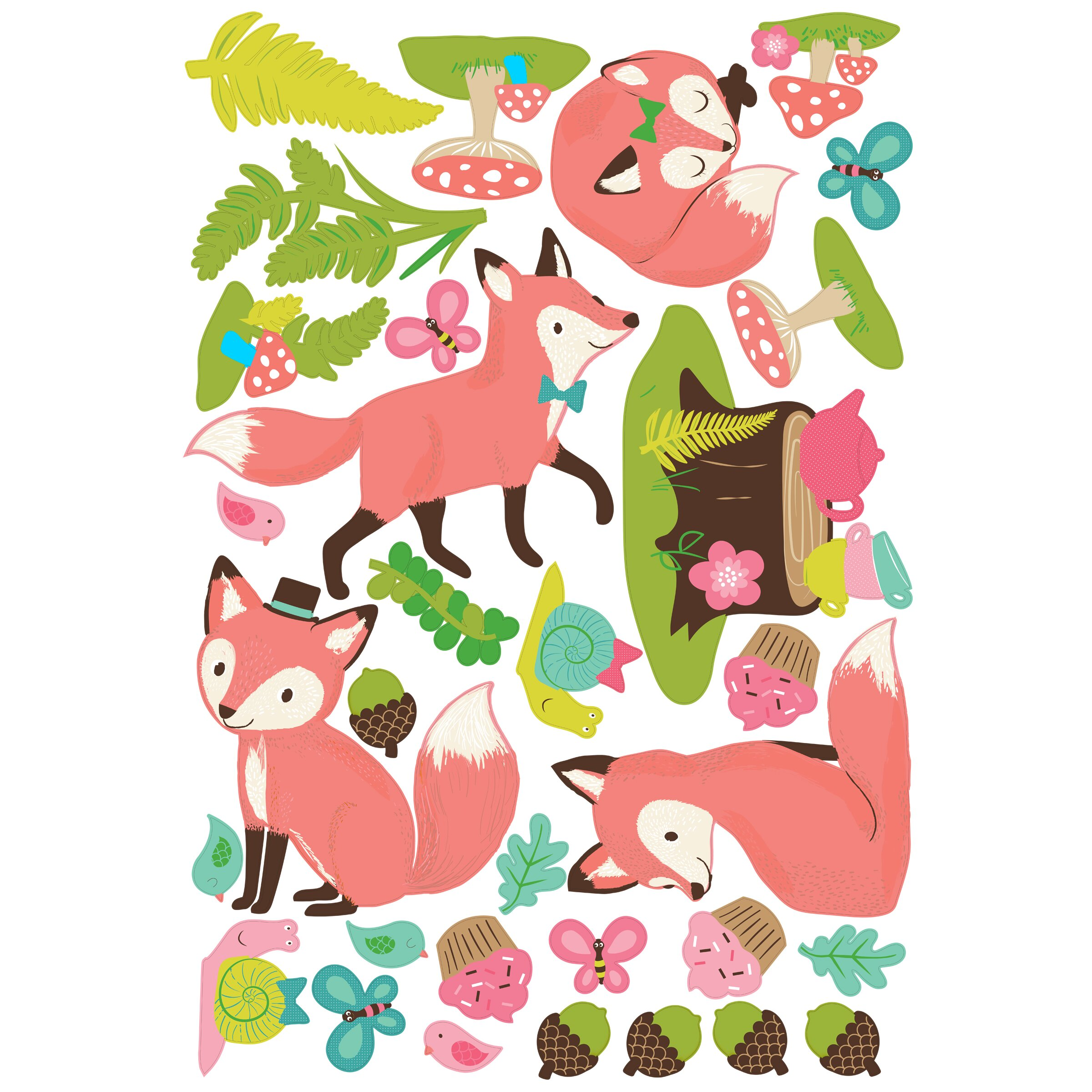 wallies woodland tea party wall mural wayfair jungle hula party wall mural elephants on the wall